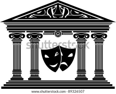 theater. stencil. vector illustration for design - stock vector