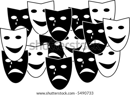 Theatre masks - stock vector