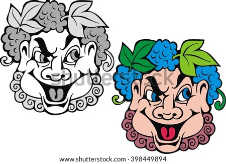 theatrical mask   cartoon