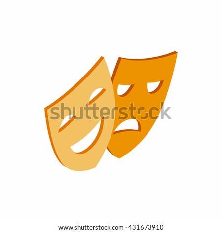 Theatrical masks icon. Theatrical masks icon art. Theatrical masks icon web. Theatrical masks icon new. Theatrical masks icon www. Theatrical masks icon app. Theatrical masks icon big - stock vector