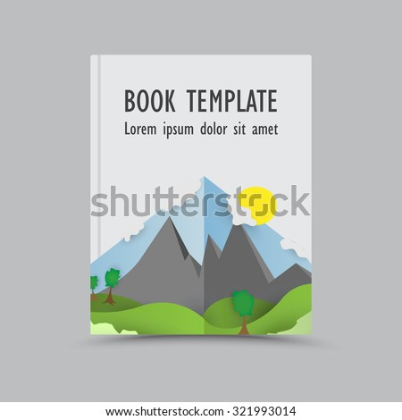 Themed book cover template - graphic for business design, reports or workflow layout - nature.book cover template.book cover template.book cover template.book cover template.book cover template  - stock vector