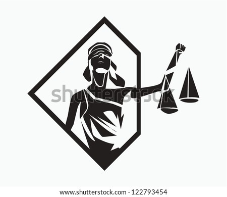 themis symbol - stock vector