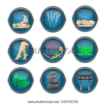 Therapy icons - stock vector