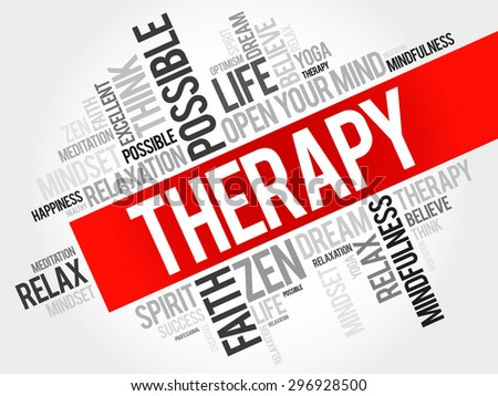 Therapy word cloud concept - stock vector