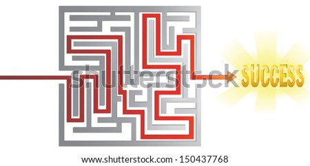 There is no path to success without obstacles and problems, create by vector - stock vector