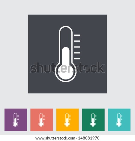 Thermometer flat icon. Vector illustration. - stock vector
