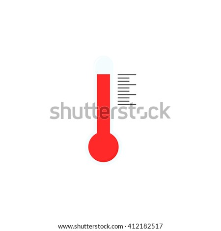 Thermometer icon isolated on white background