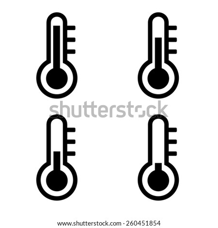 Thermometer icon set - stock vector