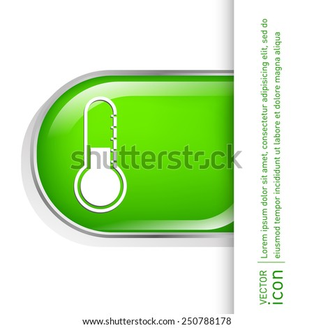 thermometer icon . temperature symbol - stock vector