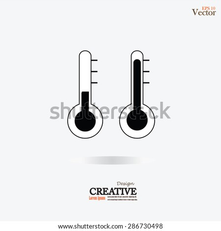 Thermometer icon.thermometer.temperature sign.vector illustration. - stock vector