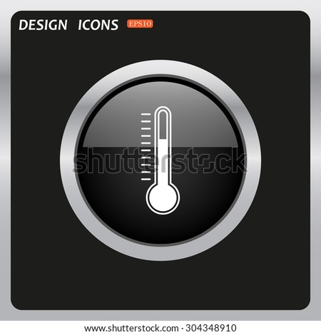 Thermometer. icon. vector design - stock vector
