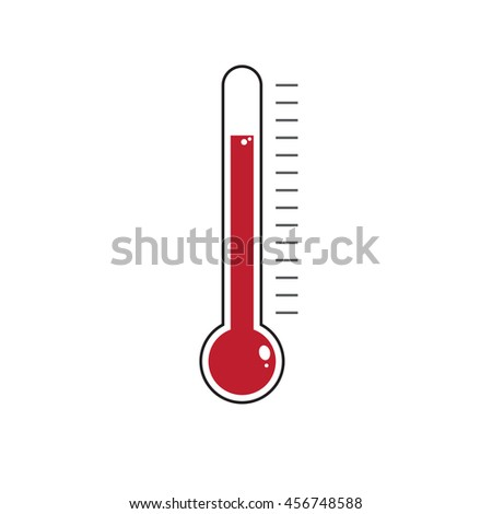 Thermometer icon vector design element
