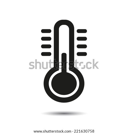 Thermometer icon. Vector for web - stock vector
