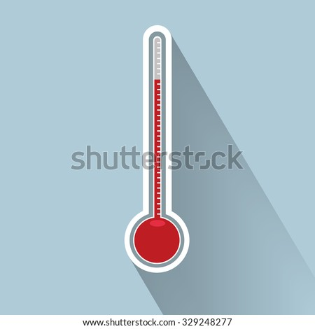 Thermometer icon , vector illustration , flat design