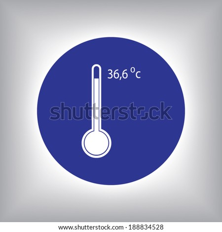 Thermometer icon, vector illustration. Flat design style