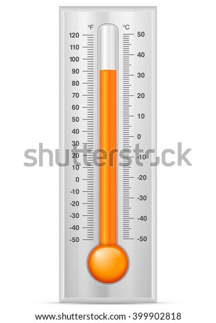 Thermometer on a white background.