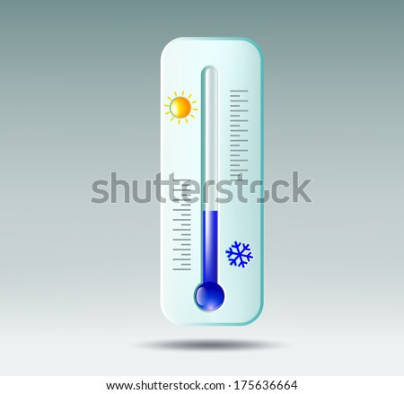 thermometer on gray background