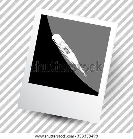 thermometer. Photoframe. Vector icon.