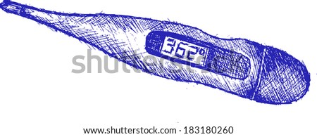 thermometer, sketch