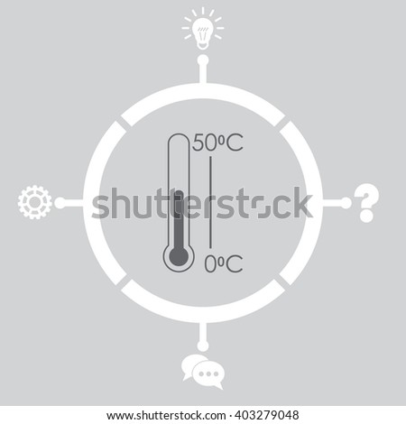 Thermometer vector icon.