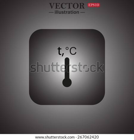 Thermometer, web icon. vector design