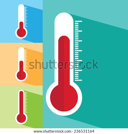 Thermometers icon - stock vector