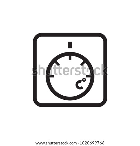thermostat icon vector illustration stock vector 1020699766