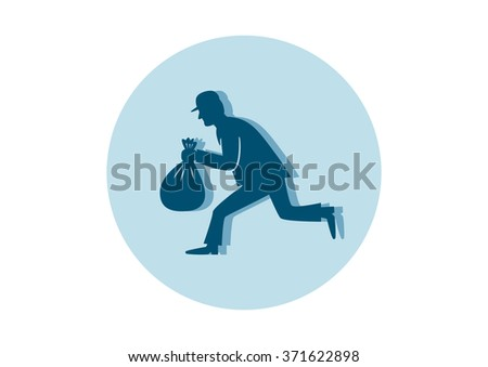 Thief icon on white background - stock vector
