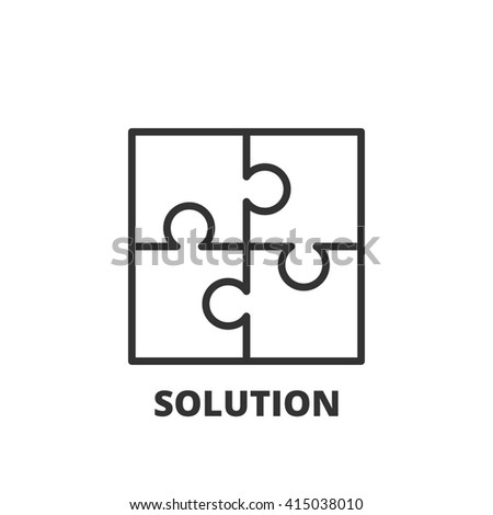 Thin line icon. Flat symbol about business. solution - stock vector