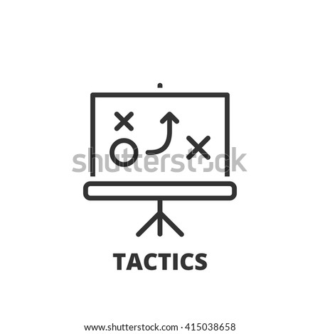Thin line icon. Flat symbol about business. tactics - stock vector