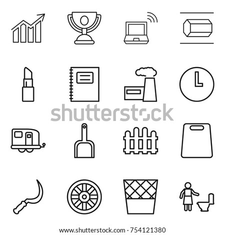 set money payment methods thin line stock vector 572382073