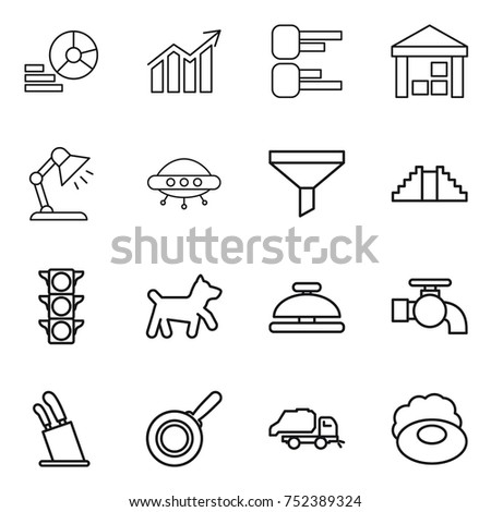 stock vector thin line icon set diagram warehouse table lamp ufo funnel pyramid traffic light dog 752389324 truck diagram stock images, royalty free images & vectors truck diagram at bayanpartner.co