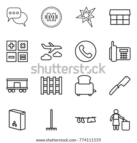 Thin line icon set discussion crypto stock vector 774111559 thin line icon set discussion crypto currency bang market calculator ccuart Gallery