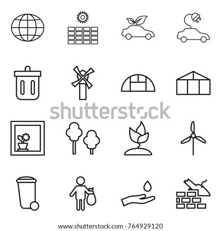 Farming Icons Set Vector Pictogram Web 640015798