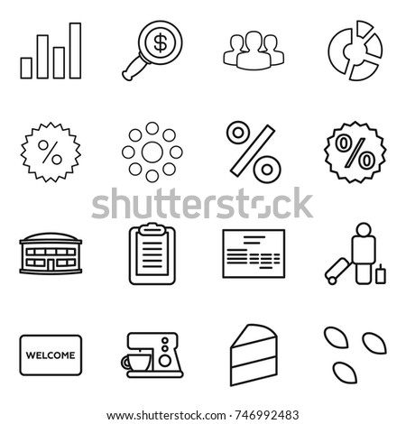 Cake maker stock images royalty free images vectors shutterstock thin line icon set graph dollar magnifier group circle diagram percent ccuart Images