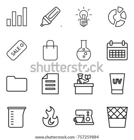 Circle equipment measuring or round stock images royalty free thin line icon set graph marker bulb circle diagram sale ccuart Images