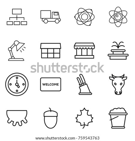 Table mat isolated stock vectors images vector art shutterstock thin line icon set hierarchy truck atom table lamp market ccuart Choice Image