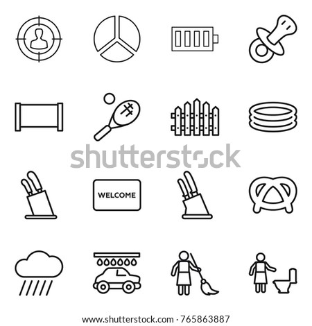 Welcome mat stock vectors images vector art shutterstock thin line icon set target audience diagram battery nipple fence ccuart Choice Image