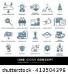 Thin Line Icons Set. Business Elements for Websites, Banners, Infographic Illustrations. Simple Linear Pictograms Collection. Logo Concepts Pack for Trendy Designs. Flat Pictogram Pack - stock vector