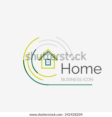 House logo stock photos images pictures shutterstock for Modern house logo