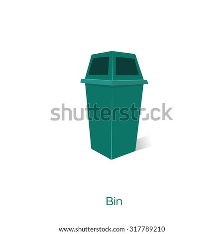 Thin line Waste recycling
