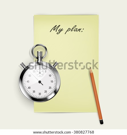 Things reminder illustration, list for noting, pen, concept of checklist, task list, test exam, scheduling, business plan project, social research flat modern design,time management, business. Vector - stock vector