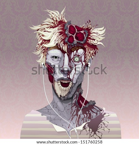 Things that turn us into zombies: Music marketing. Horror and vector illustration - stock vector
