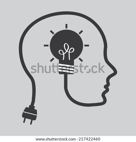 think design over  gray background vector illustration - stock vector