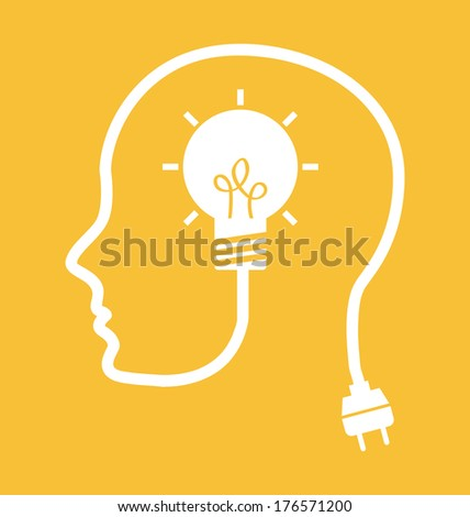 think design over yellow background vector illustration - stock vector