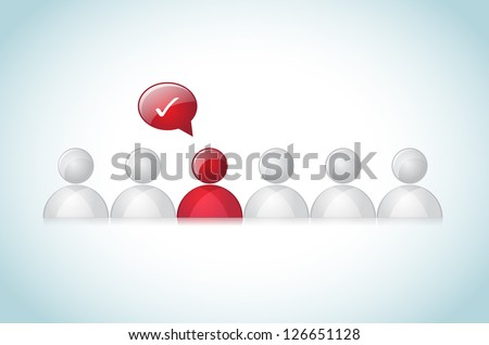Think different abstract representation. It contains screen and overlay blend mode. No mesh or transparencies. /  Think Different - stock vector