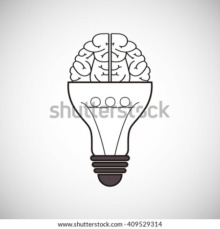Think different design over white background