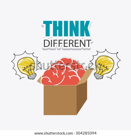 Think different design, vector illustration eps 10. - stock vector