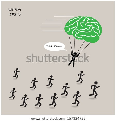 Think different, stand out from crowd.vector illustration - stock vector