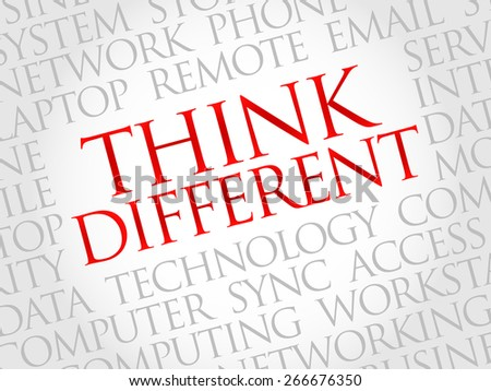 Think Different word cloud concept - stock vector